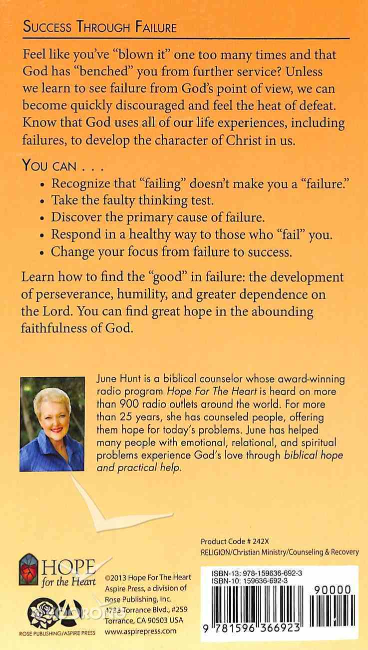 Success Through Failure (Hope For The Heart Series) Paperback