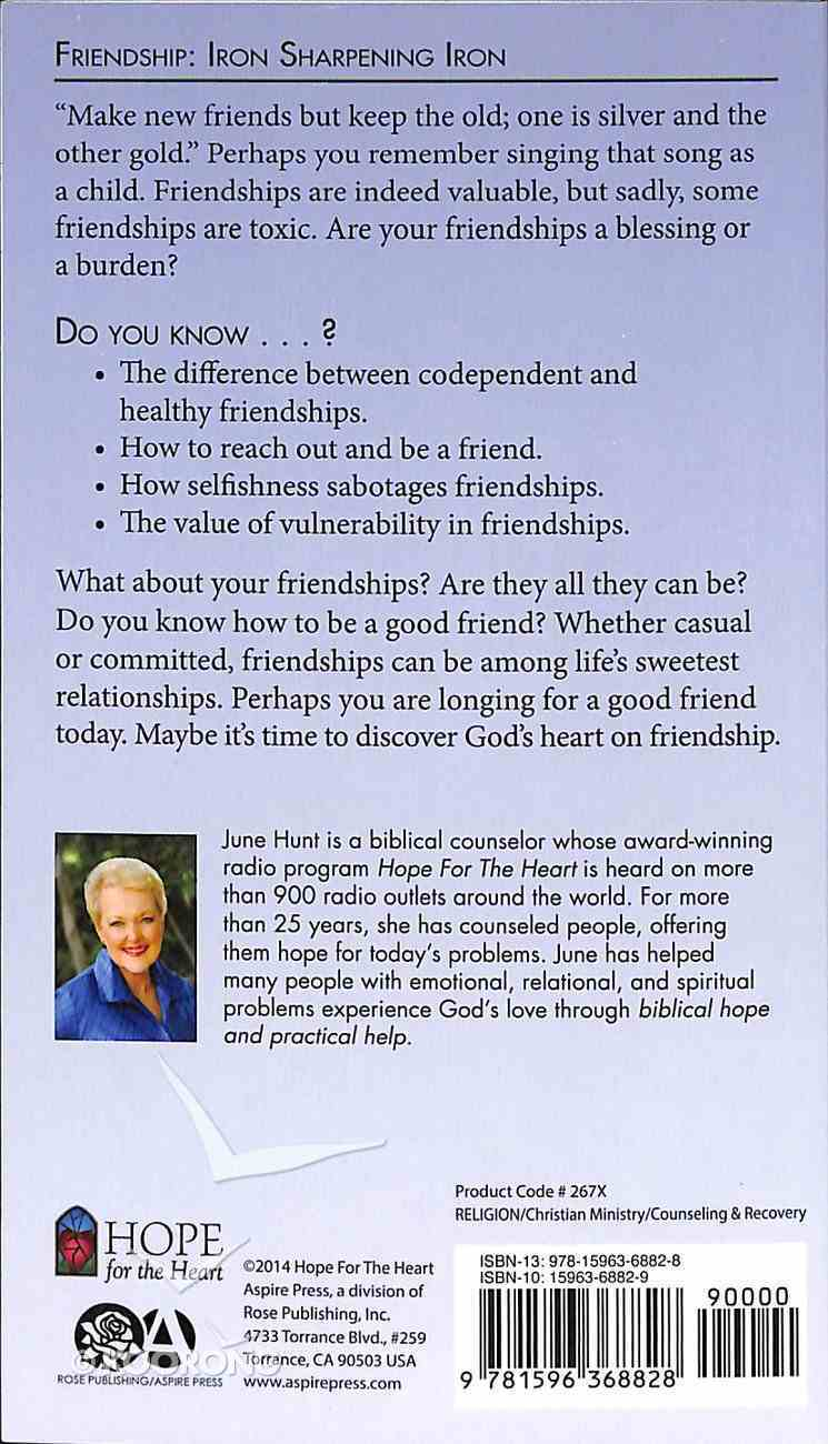 Friendship (Hope For The Heart Series) Paperback