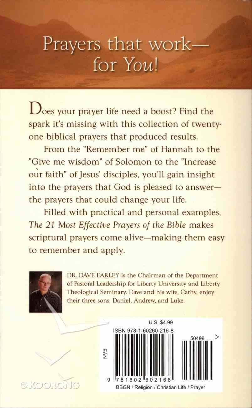 The 21 Most Effective Prayers of the Bible (21 Most Series) Paperback