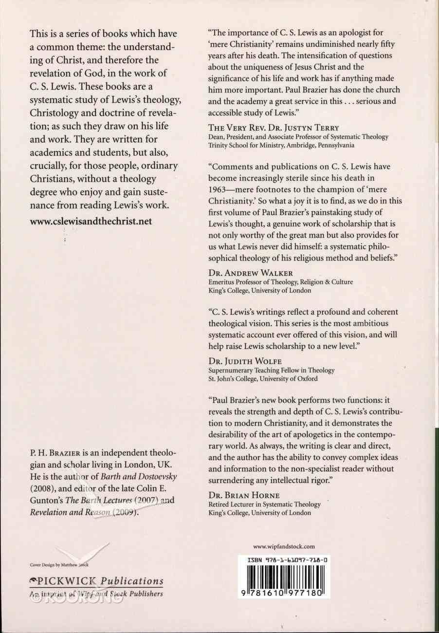 Lewis: Revelation, Conversion, and Apologetics Paperback