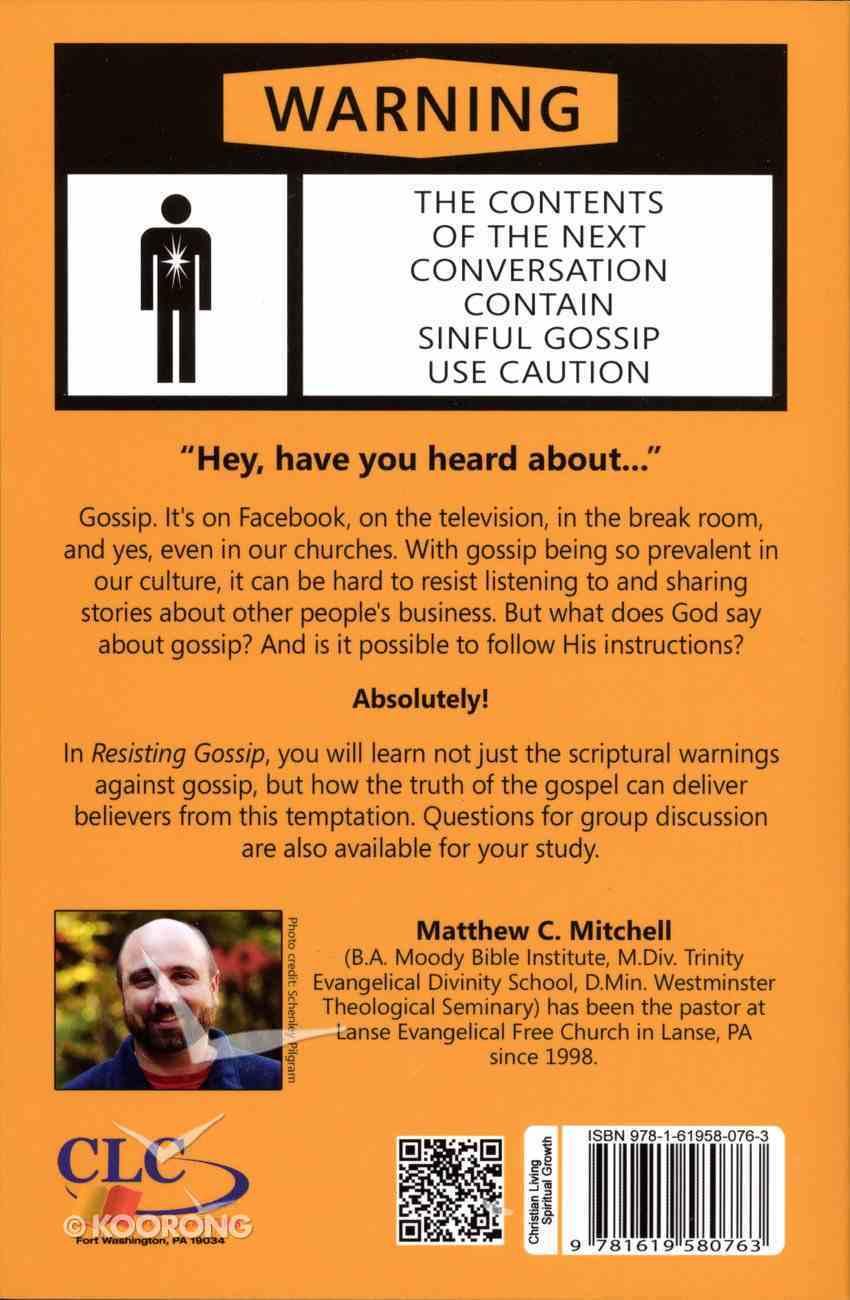 Resisting Gossip Paperback