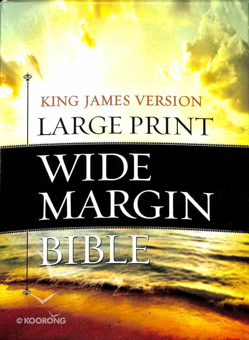 KJV Large Print Wide Margin Bible Brown/Taupe Flexi Back