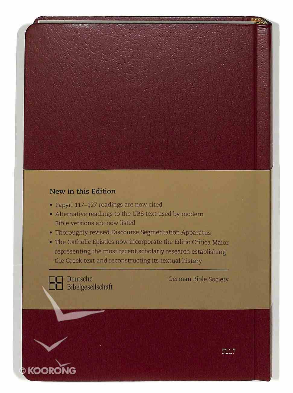 Greek New Testament Ubs5 Fifth Revised Edition With Concise Greek English Dictionary Hardback