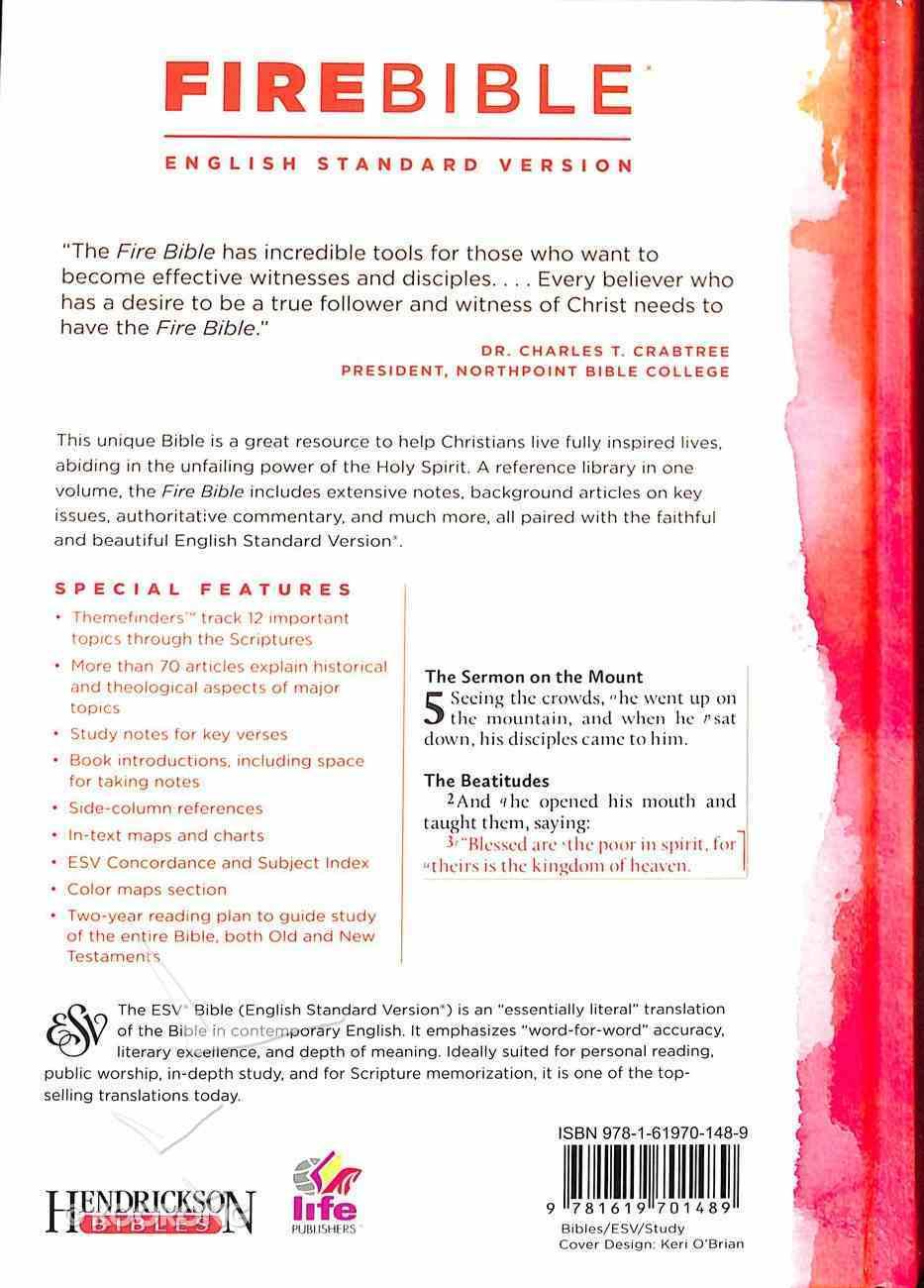 ESV Fire Study Bible Hardback