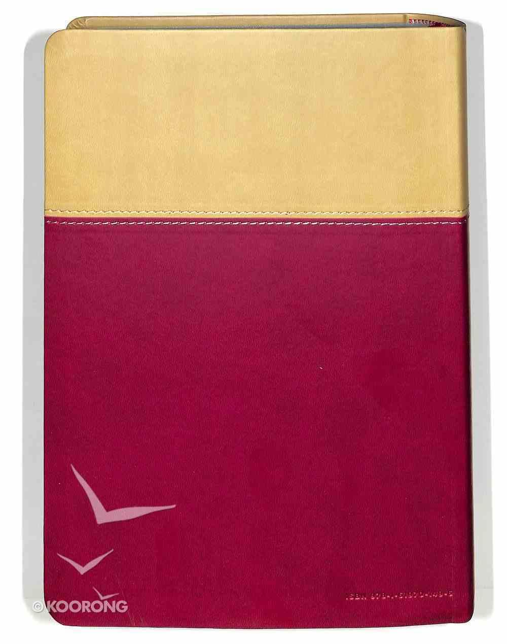 ESV Fire Study Bible Flexisoft Tan/Berry Premium Imitation Leather