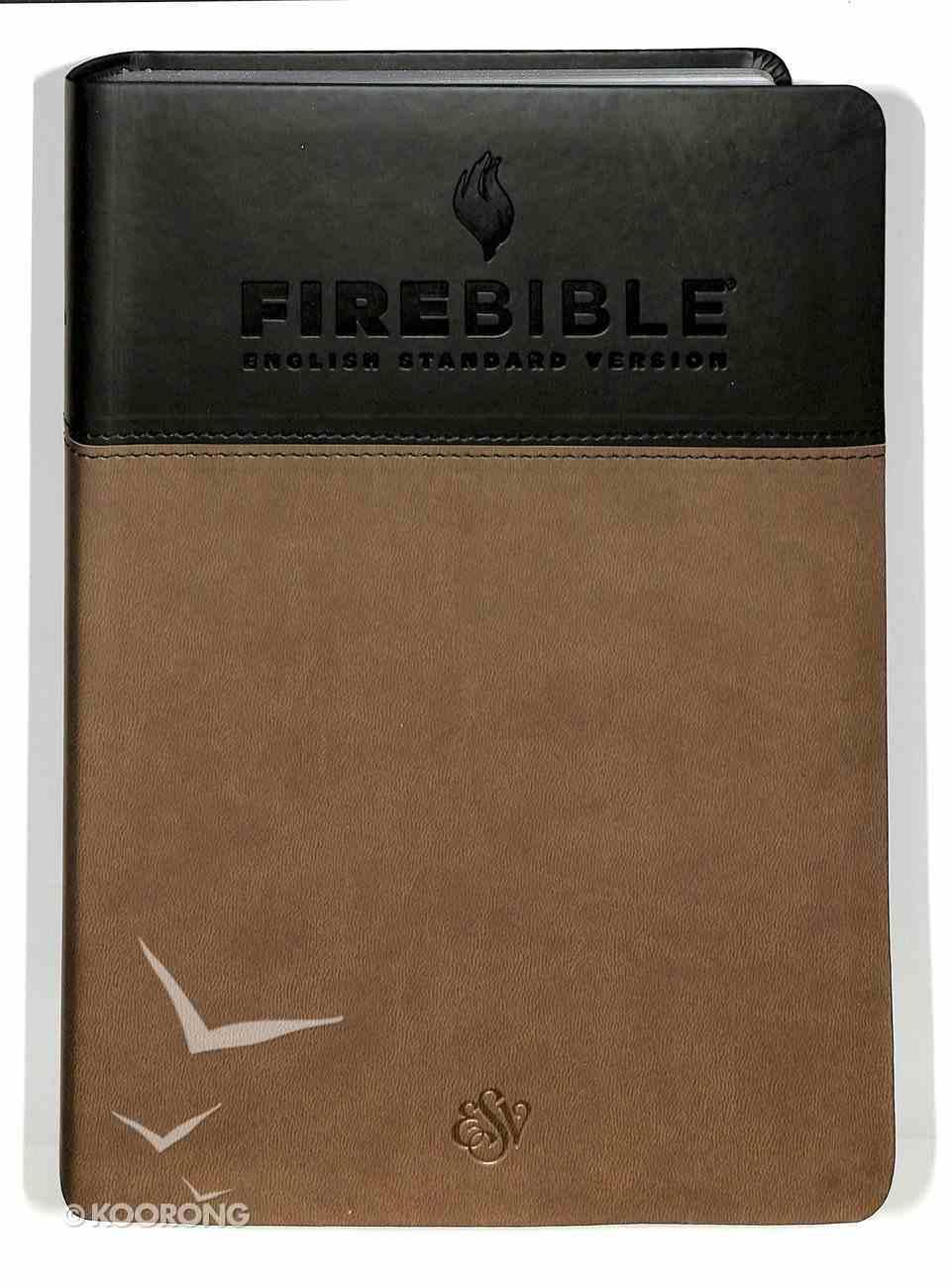 ESV Fire Study Bible Flexisoft Gray/Slate Premium Imitation Leather