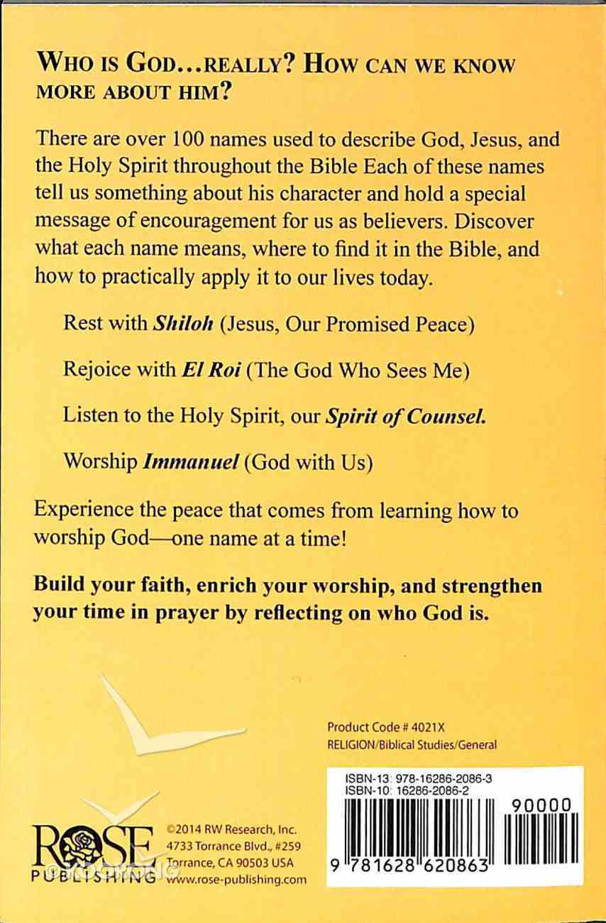 Names of God (Rose Guide Series) Booklet