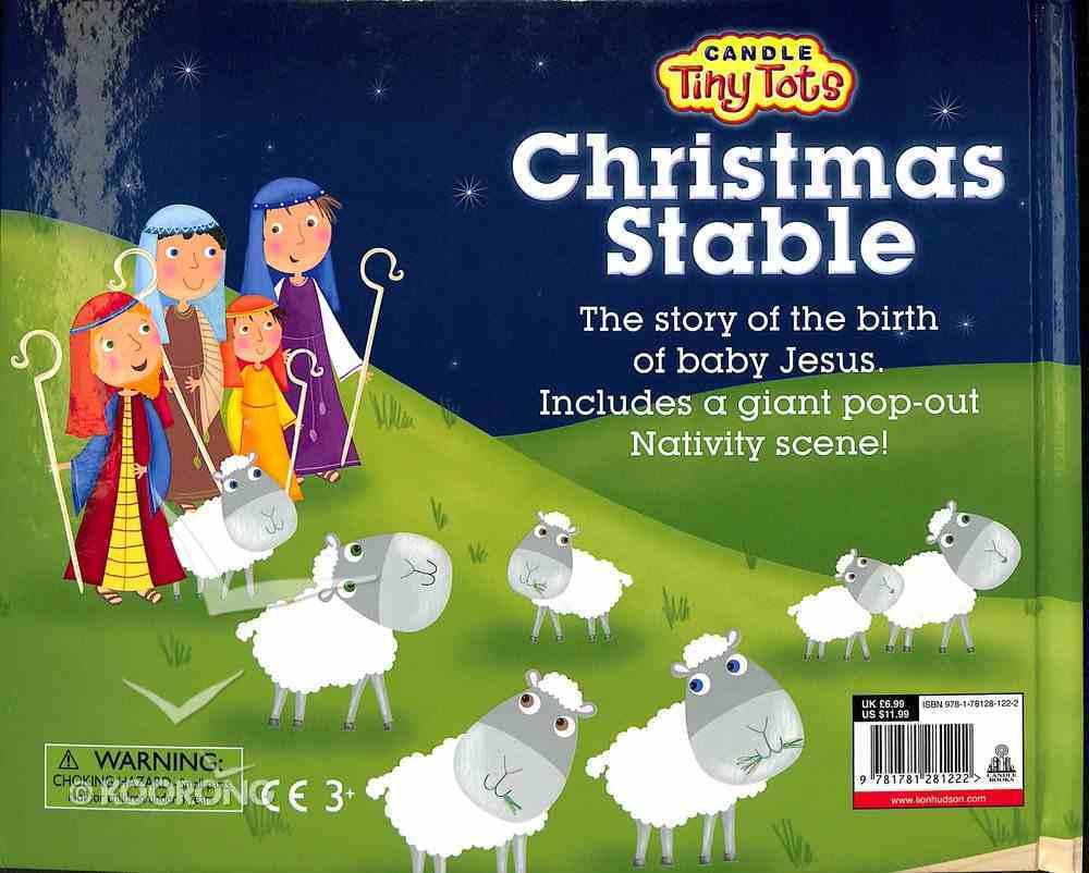 Candle Tiny Tots: Christmas Stable Hardback