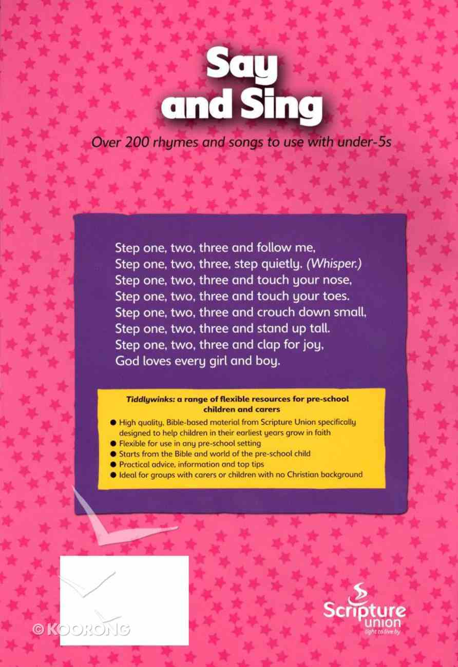 Say and Sing (Tiddlywinks Series) Paperback