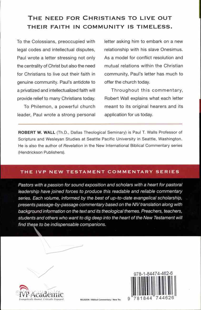 Ivp Ntc: Colossians & Philemon (Ivp New Testament Commentary Series) Paperback