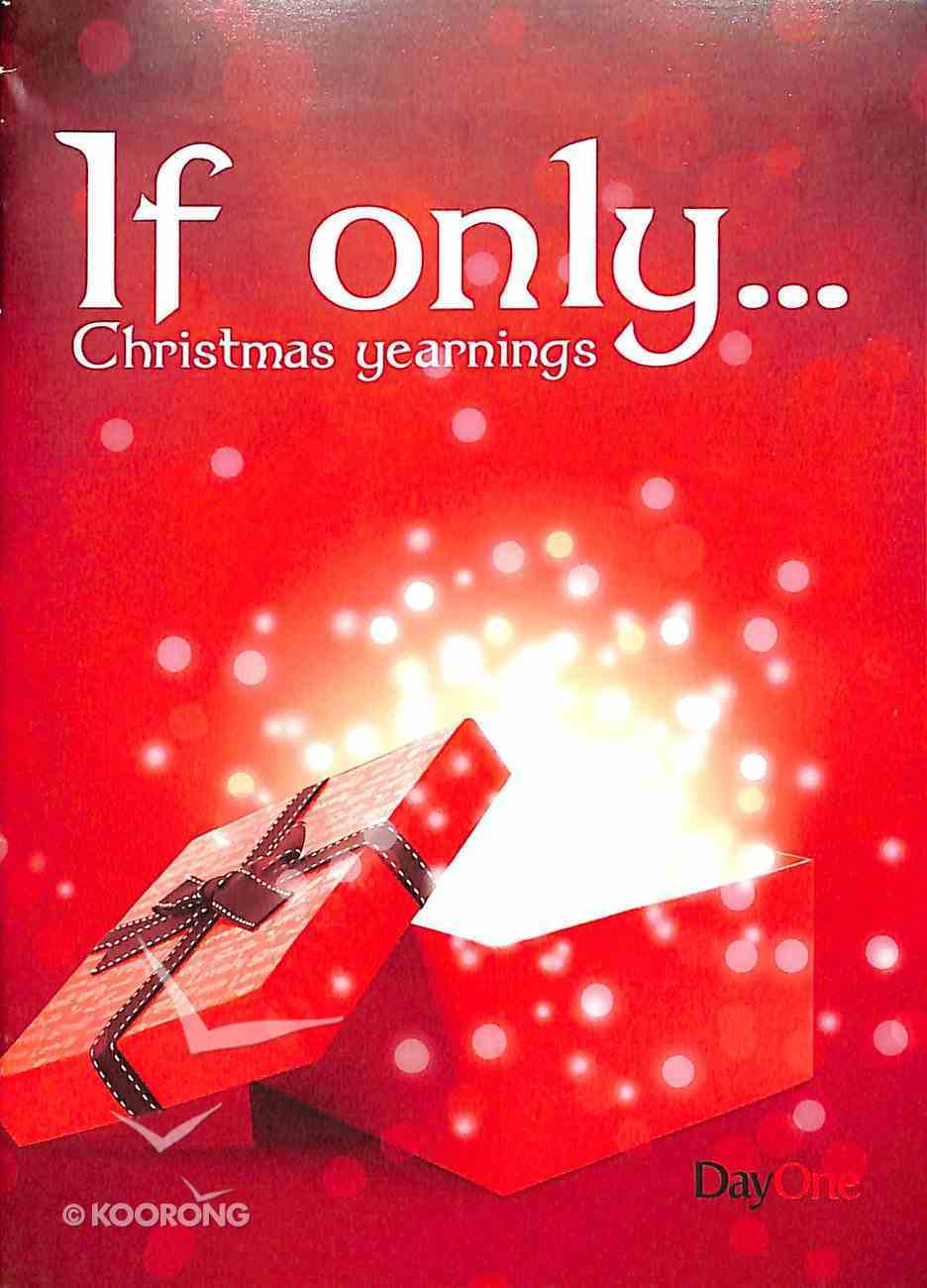 If Only....Christmas Yearnings Booklet