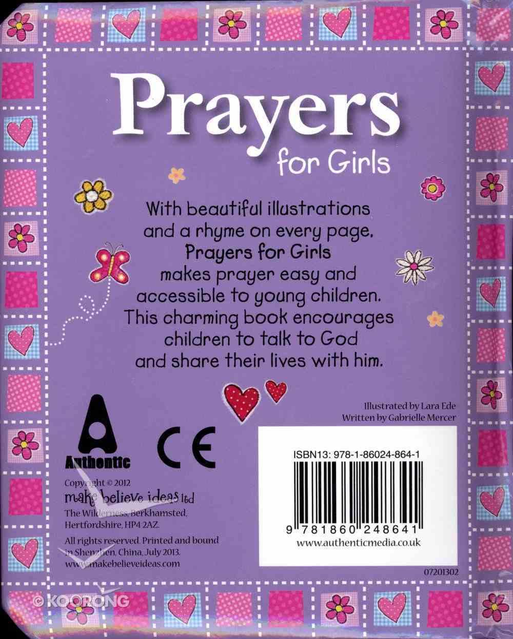 Prayers For Girls Padded Board Book