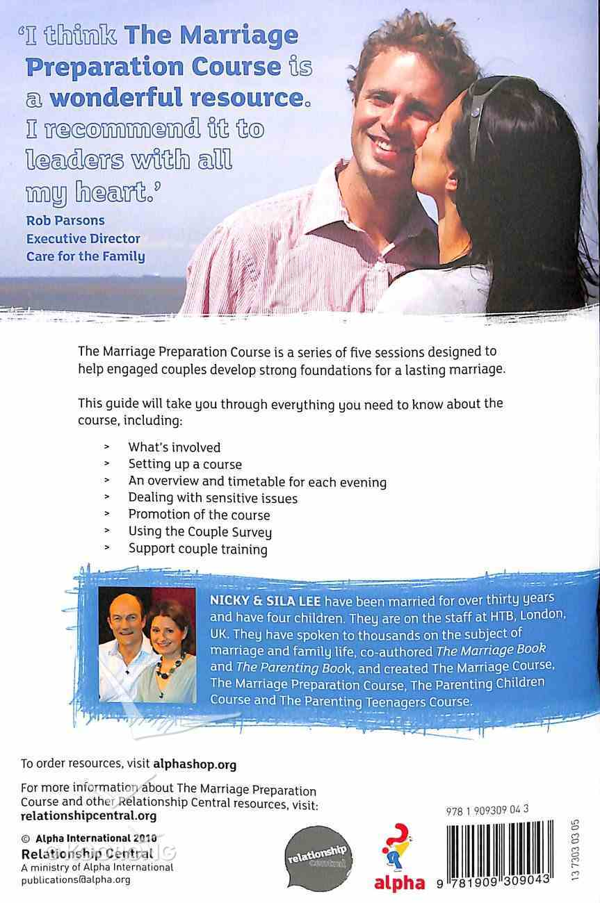 The Leaders' and Support Couples' Guide (Marriage Preparation Course) Paperback