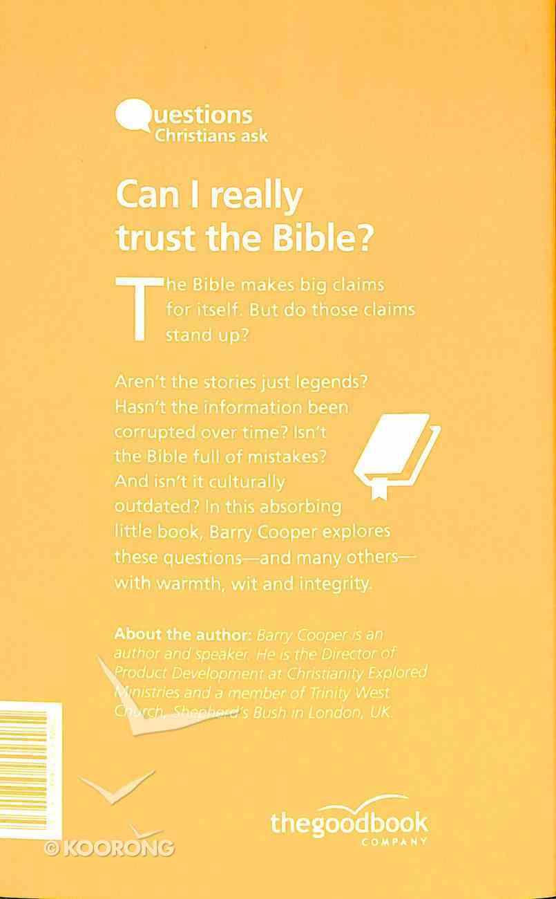 Can I Really Trust the Bible? (Questions Christian Ask Series) Paperback