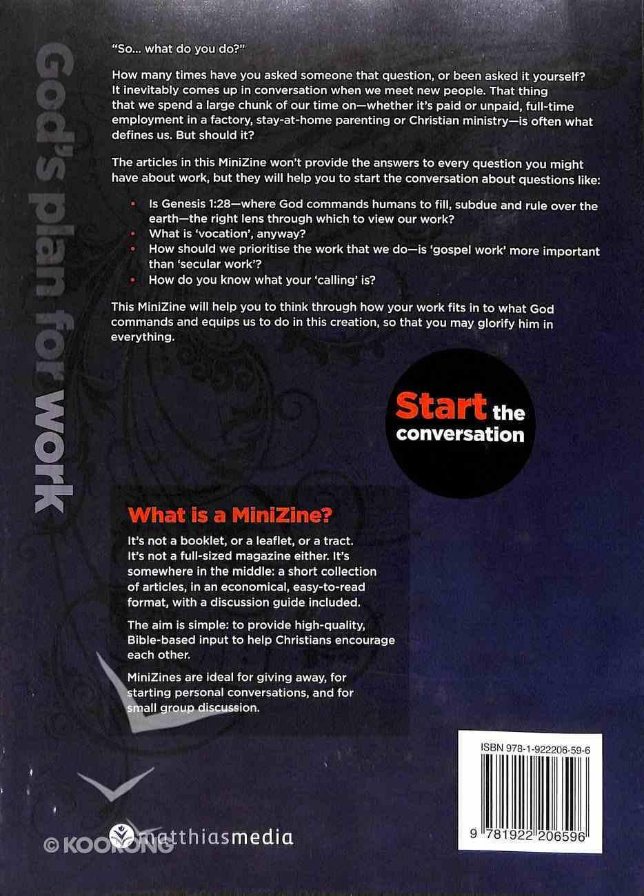 God's Plan For Work (Matthias Minizines Series) Magazine