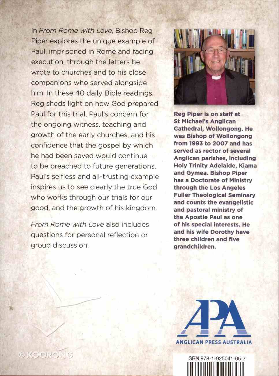 2014 Lenten Studies: From Rome With Love Paperback