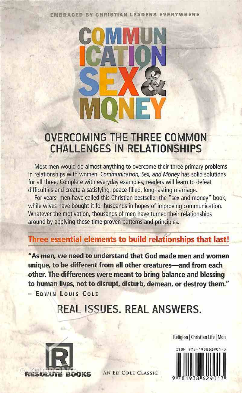 Communication, Sex & Money Paperback