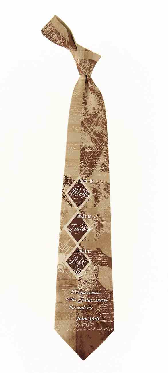 Religious Ties Cross Neckties Crossover Tan//Brown Tie Inspirational Eagles Wings