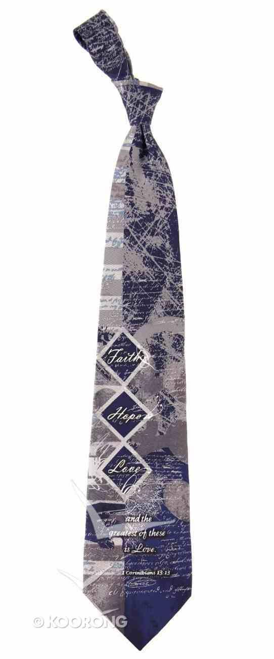 Silk Tie: Faith, Hope, Love Diamond Soft Goods