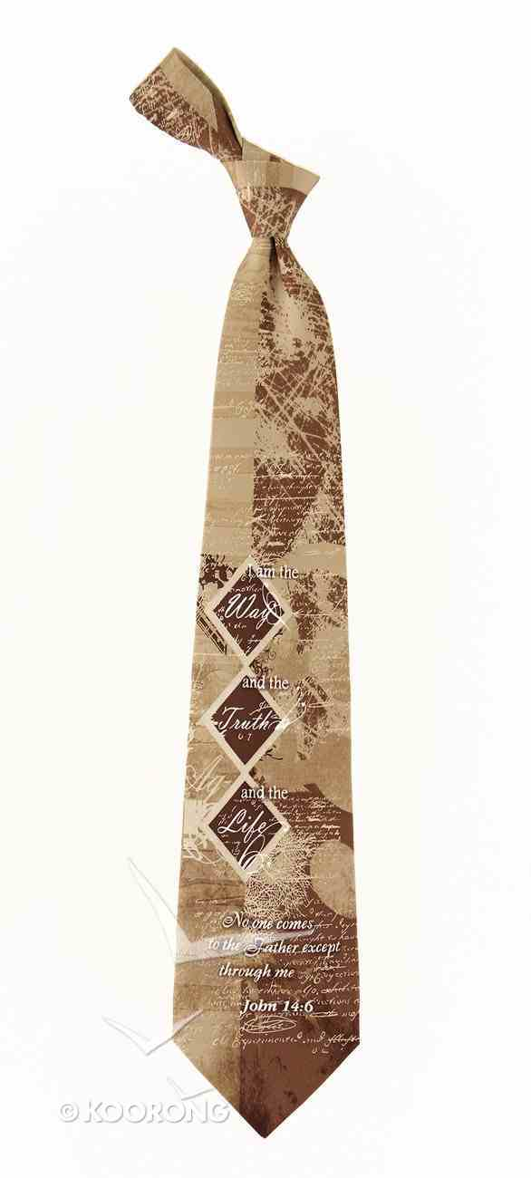 Silk Tie: Way Truth Life Soft Goods