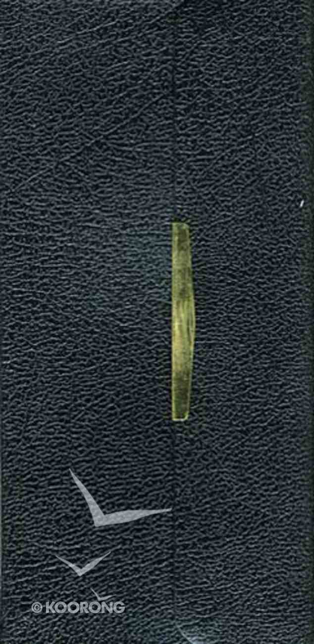 KJV Classic Checkbook Black With Snap Flap Bonded Leather