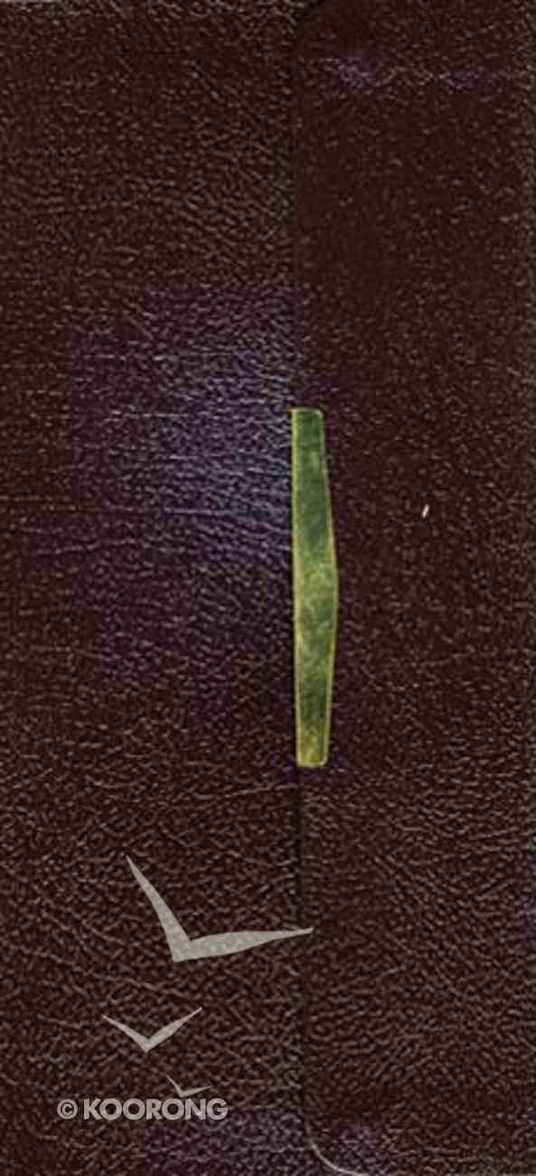 KJV Classic Checkbook Bible Burgundy Snap Flap Bonded Leather