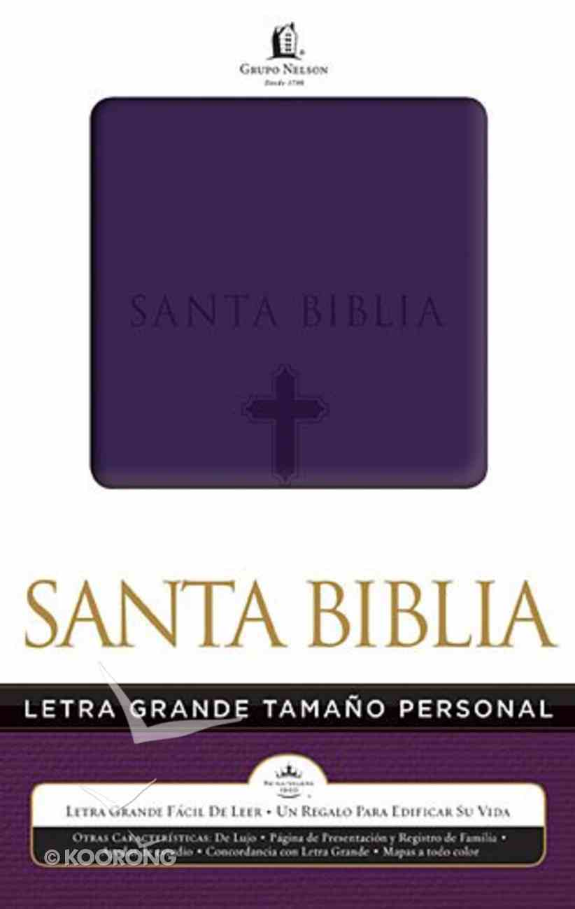 Biblia Letra Grande Tamano Personal Purple (Spanish Large Print Handy Size) Imitation Leather