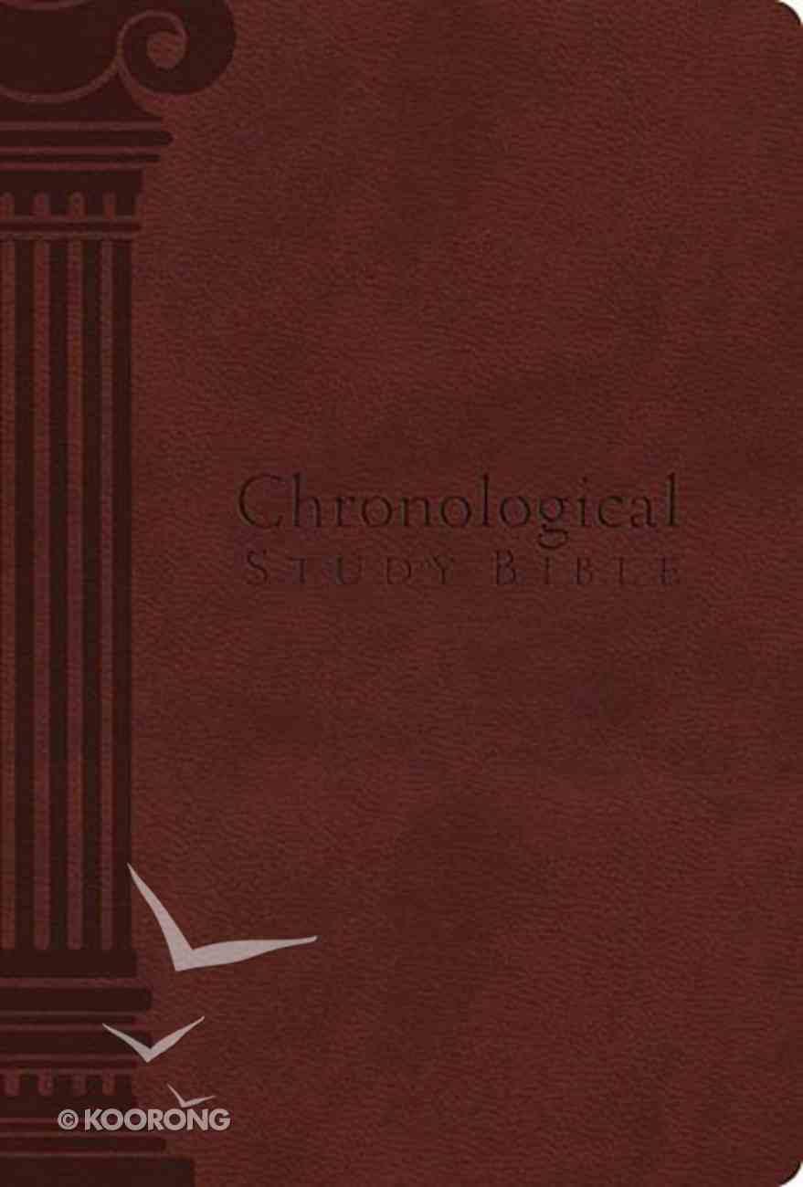 NKJV Chronological Study Bible Auburn (Black Letter Edition) Imitation Leather