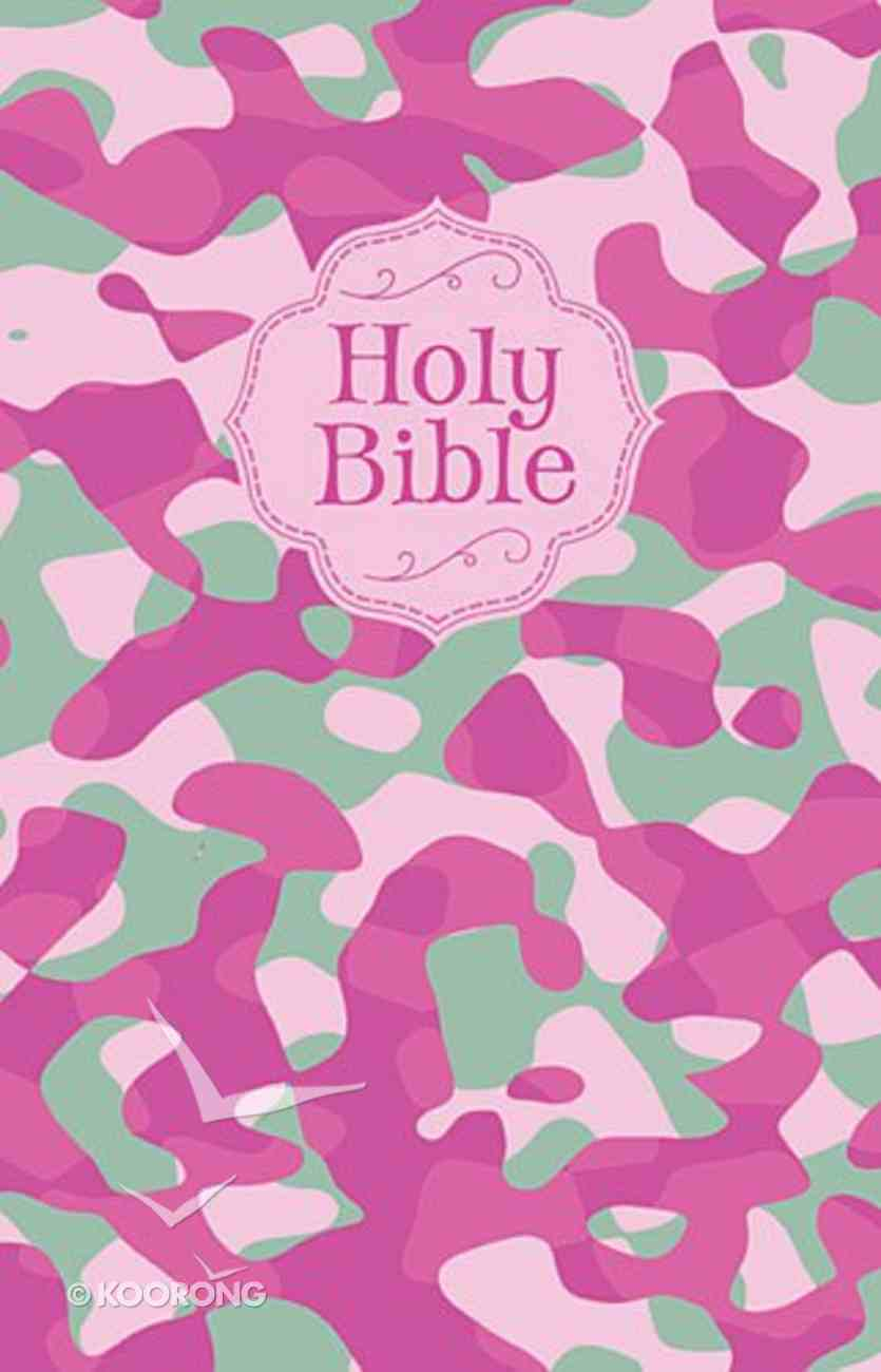 NKJV Camouflage Bible Pink Camouflage (Red Letter Edition) Fabric