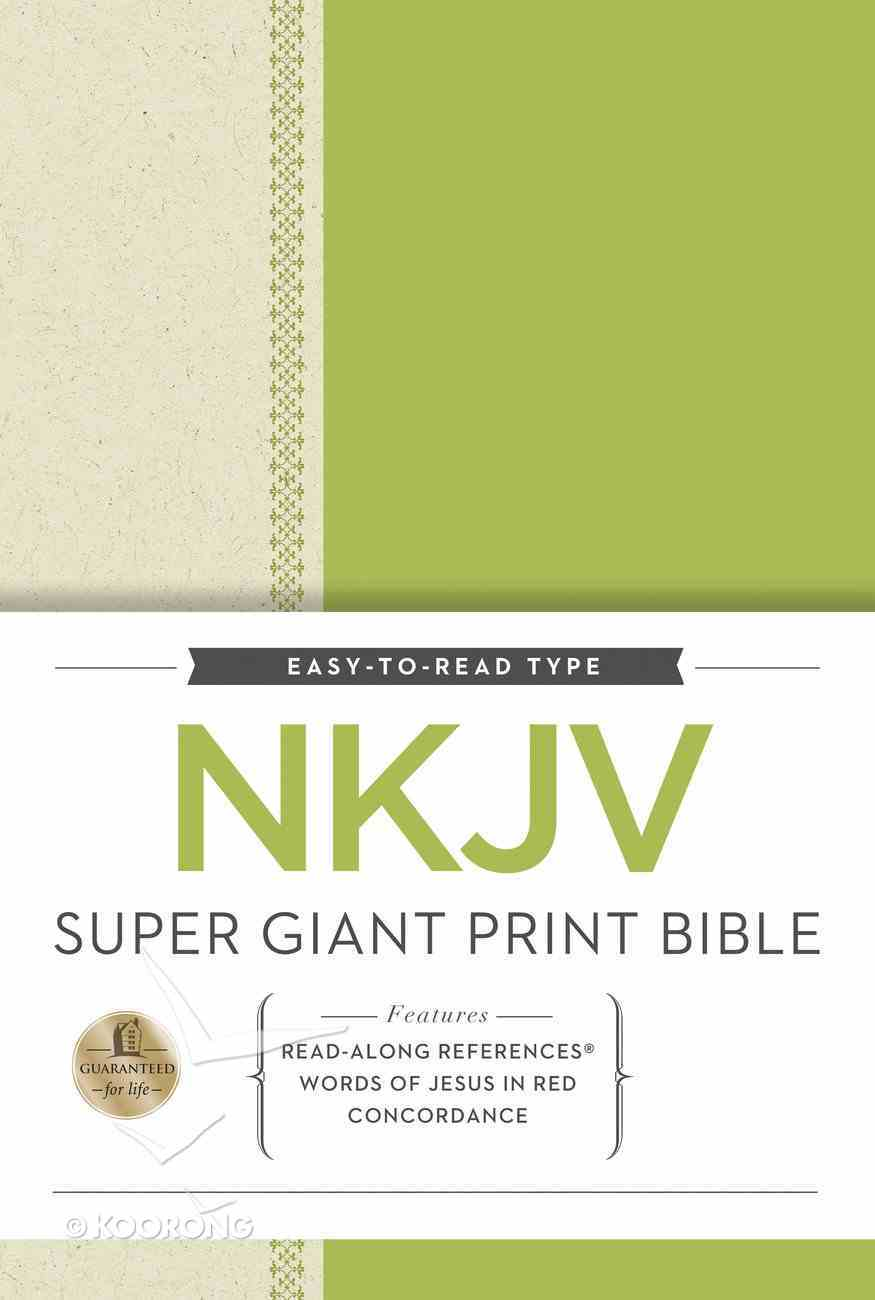 NKJV Super Giant Print Reference Bible (Red Letter Edition) Hardback