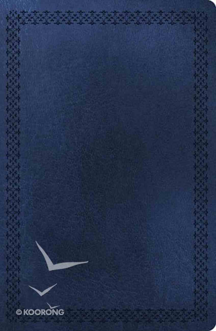 NKJV Super Giant Print Reference Bible Dark Blue (Red Letter Edition) Imitation Leather