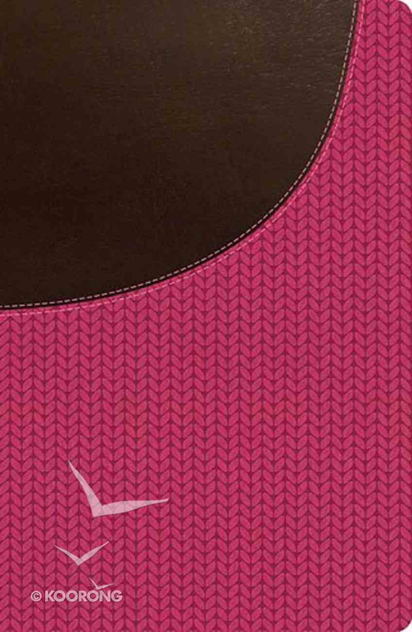 NKJV Super Giant Print Reference Bible Brown/Pink (Red Letter Edition) Imitation Leather