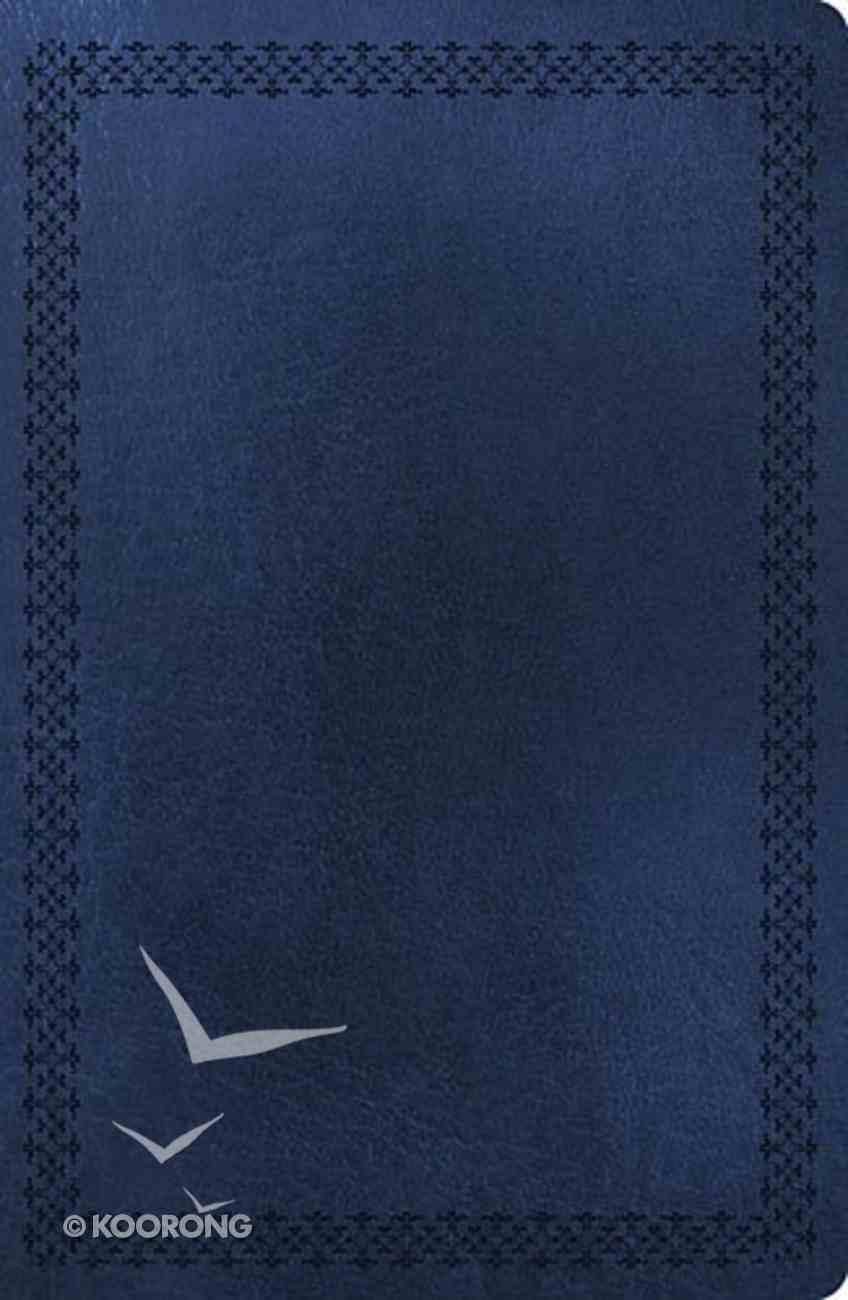 NKJV Super Giant Print Reference Indexed Bible Dark Blue (Red Letter Edition) Imitation Leather