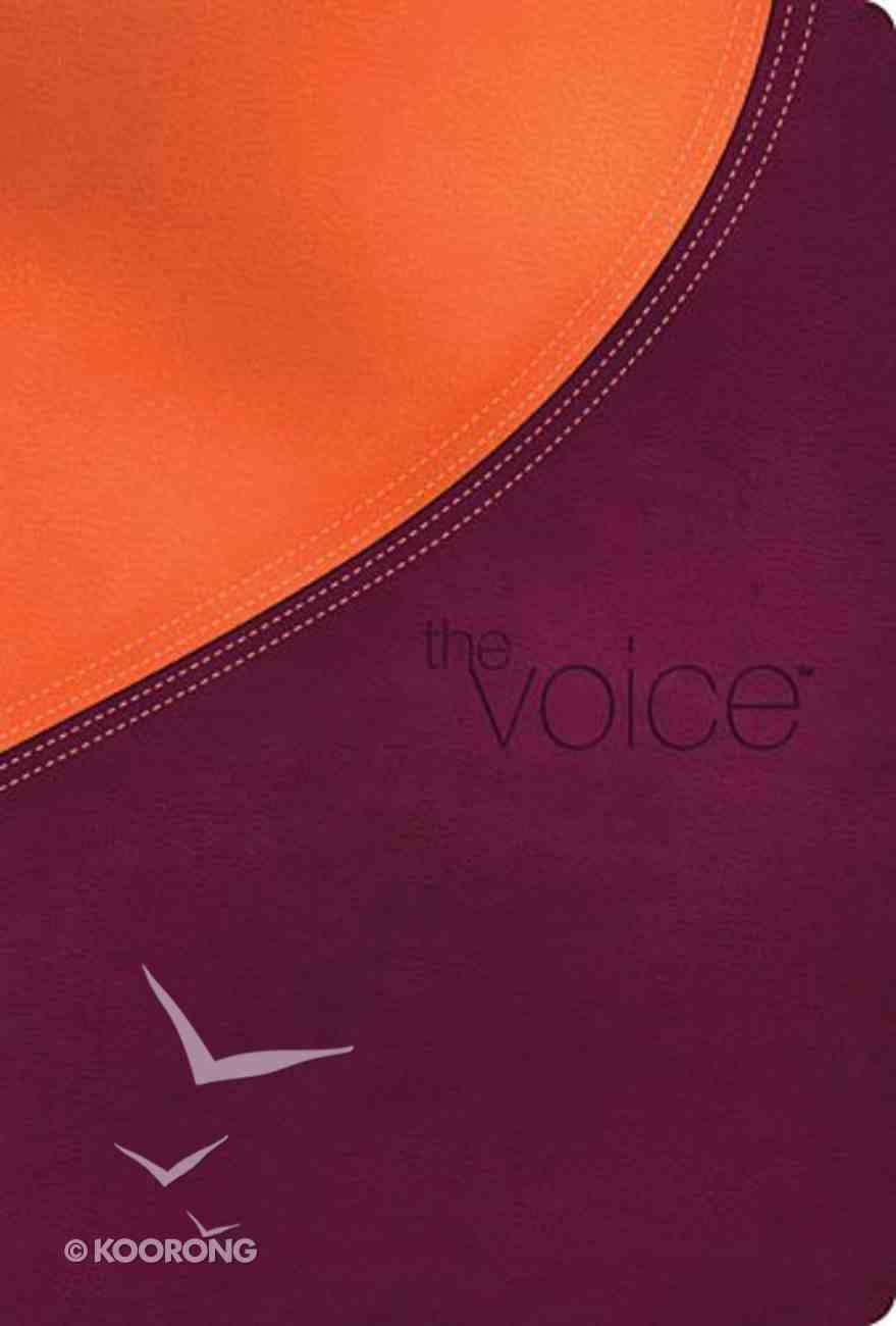 Voice Bible Plum/Orange Premium Imitation Leather