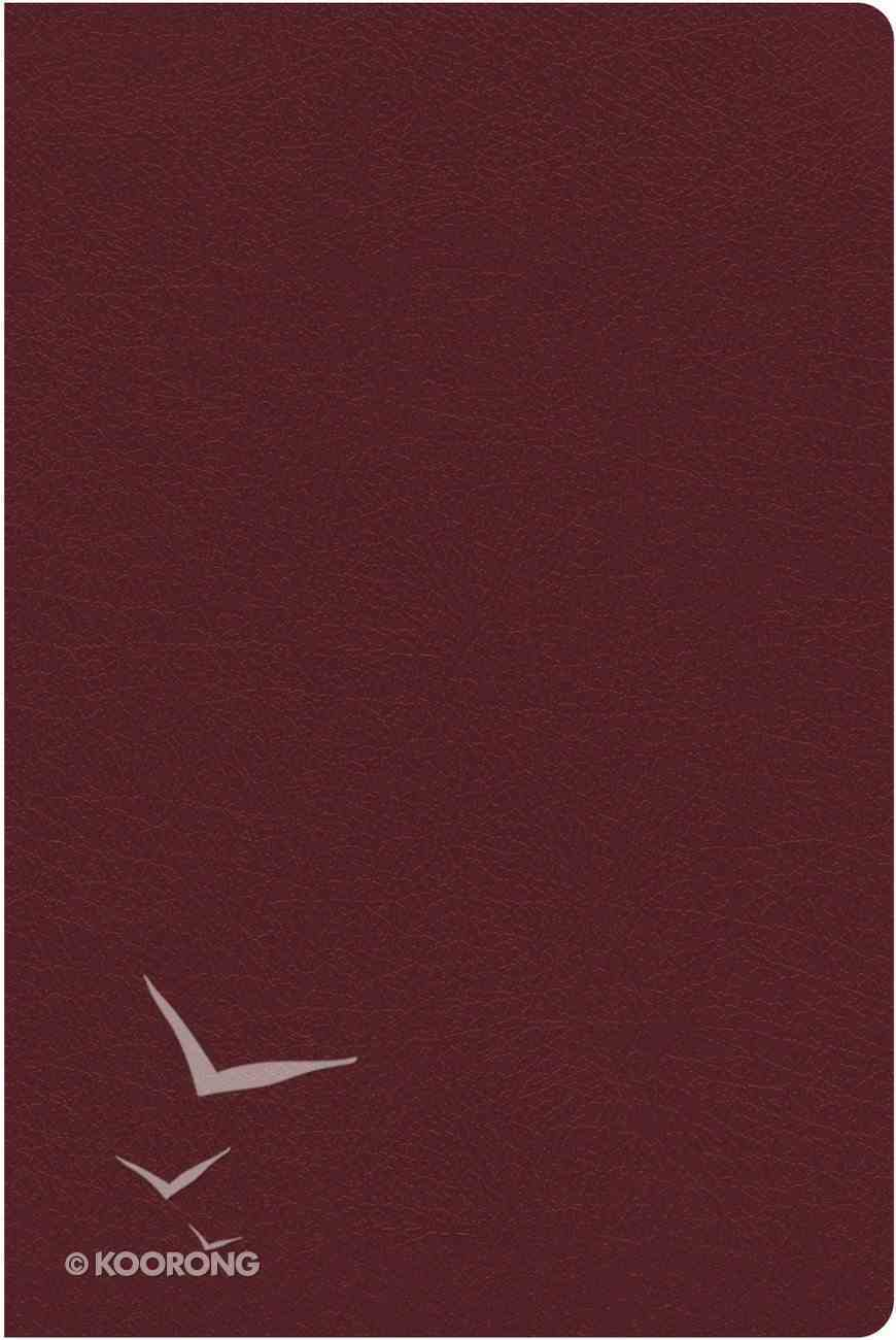 NKJV Study Bible Burgundy Indexed (Red Letter Edition) (Full-color Edition) Bonded Leather