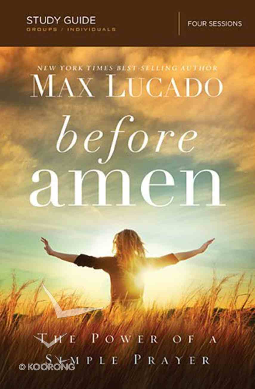 Before Amen (Study Guide) Paperback