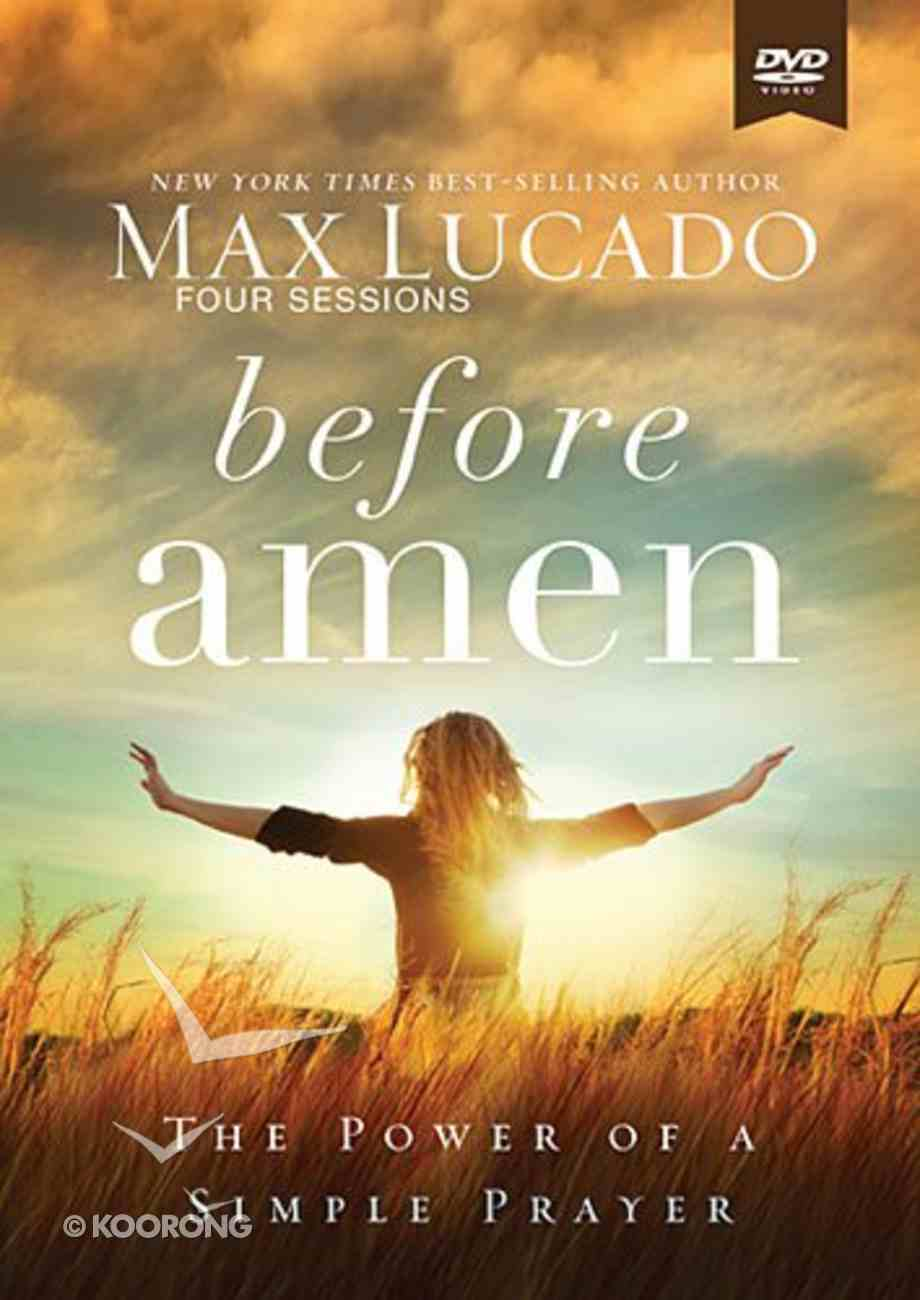 Before Amen (Study Guide With Dvd) Pack