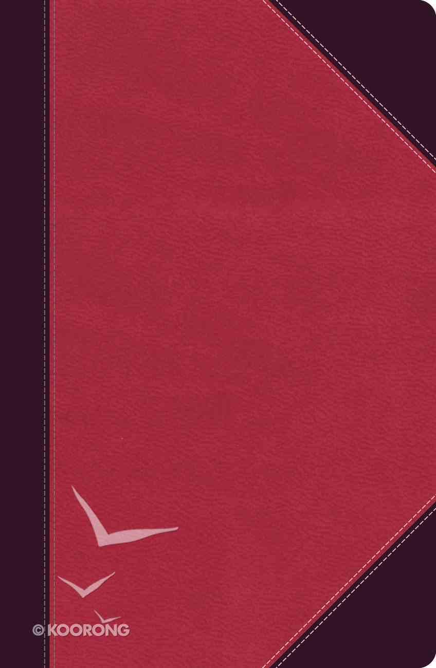 NKJV Ultraslim Reference Bible Brown/Pink (Red Letter Edition) Imitation Leather