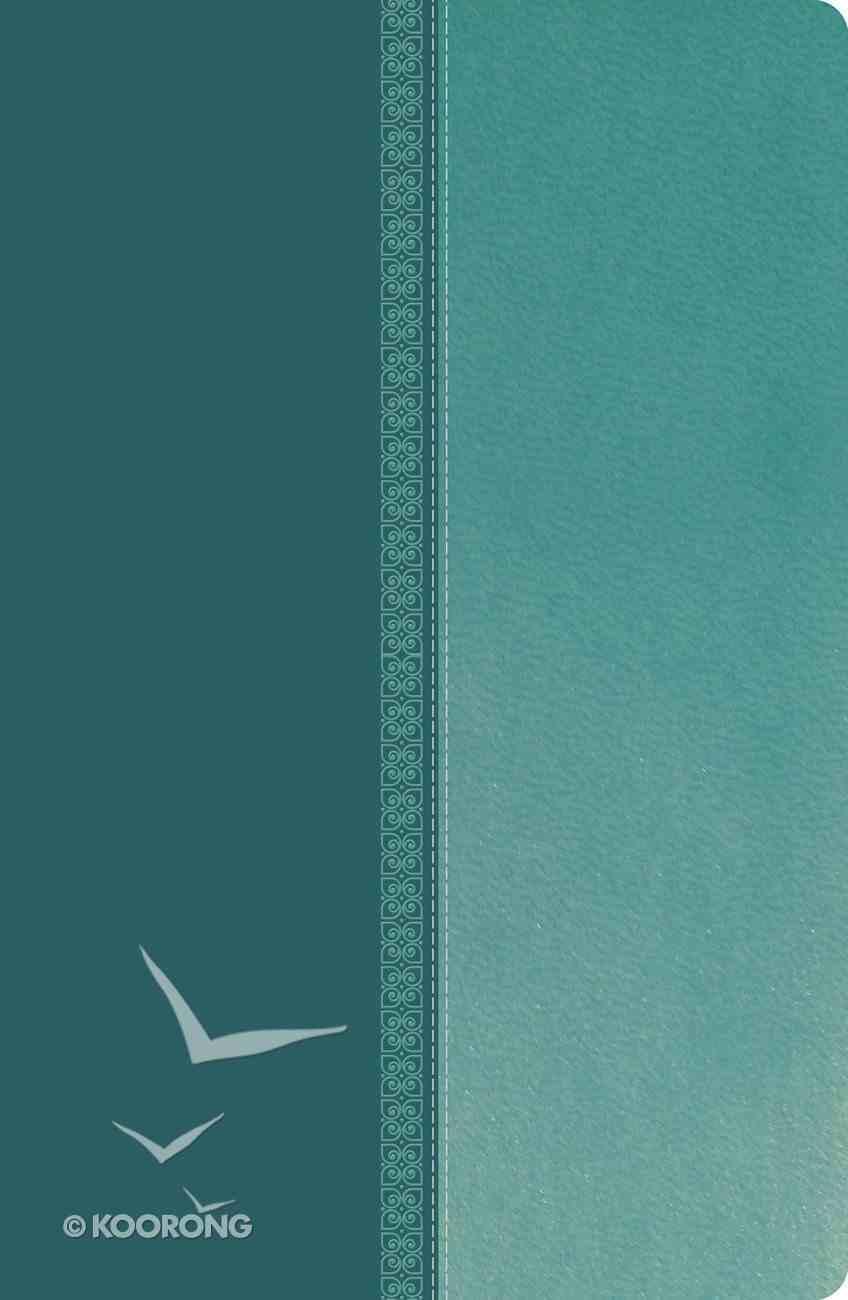 NKJV Ultraslim Reference Bible Tutone Blue (Red Letter Edition) Imitation Leather