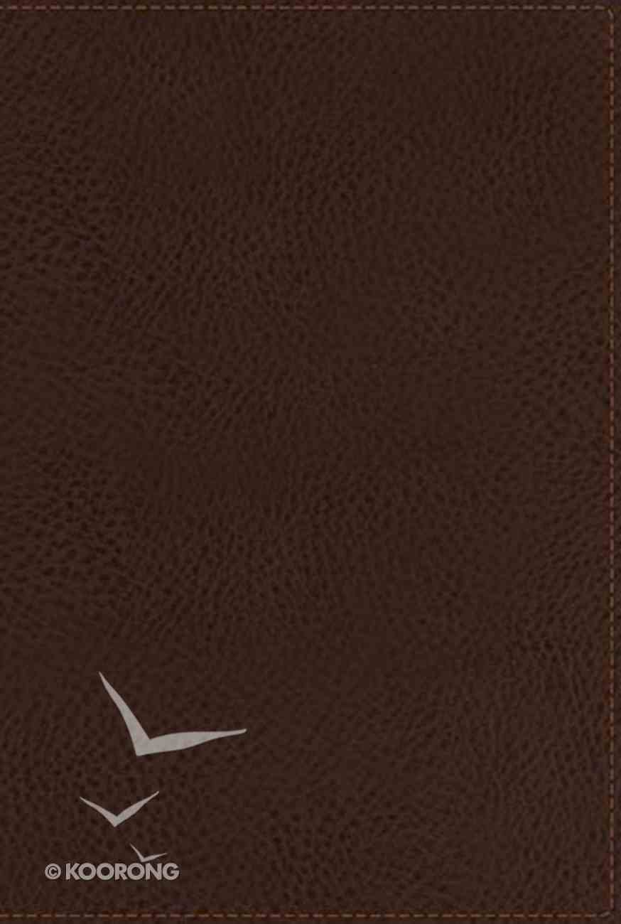 NKJV Compact Large Print Reference Bible Brown (Red Letter Edition) Imitation Leather