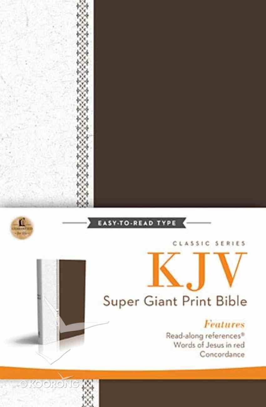 KJV Super Giant Print Reference Bible Brown/White (Red Letter Edition) Hardback