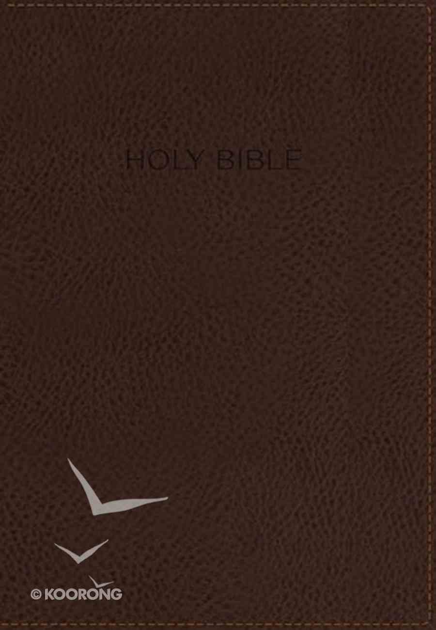 KJV Foundation Study Bible Brown Indexed (Red Letter Edition) Premium Imitation Leather