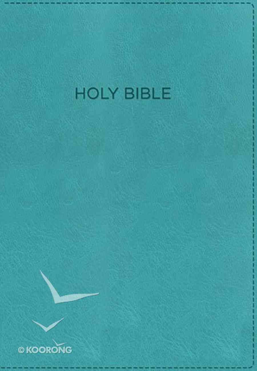 KJV Foundation Study Bible Aqua (Red Letter Edition) Premium Imitation Leather