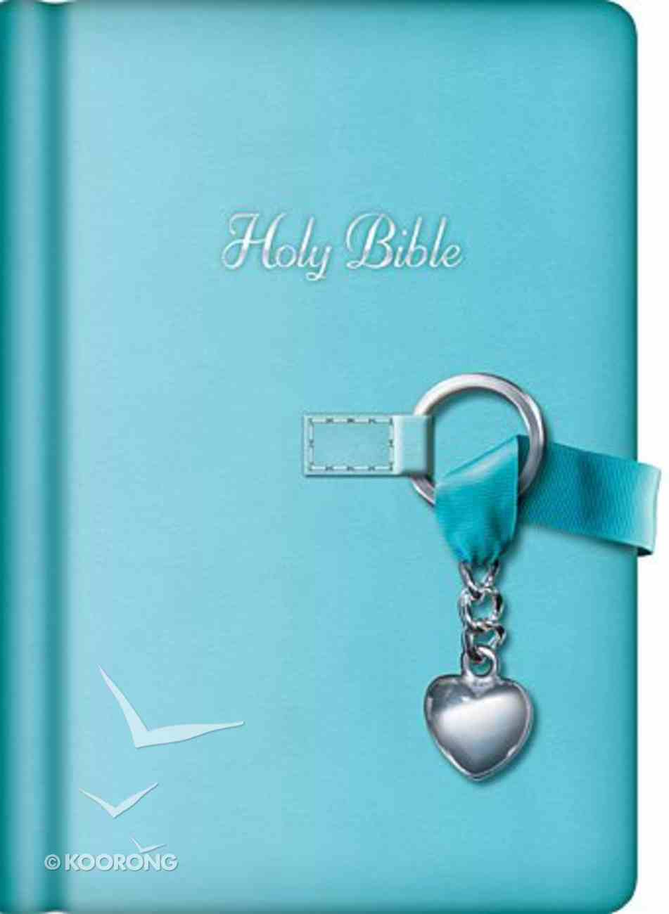 NKJV Simply Charming Blue With Silver Charm (Red Letter Edition) Premium Imitation Leather