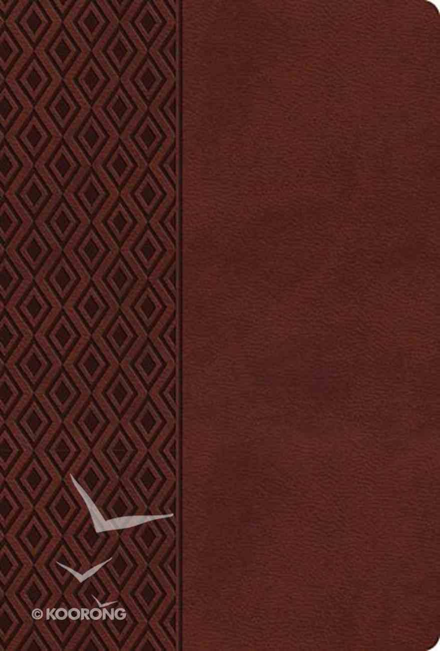 NKJV Center-Column Reference Bible Brown Imitation Leather