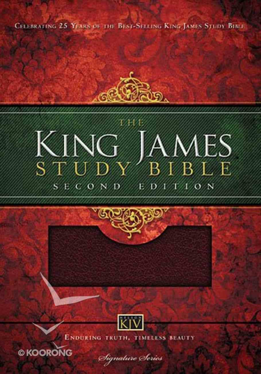 KJV Study Bible Burgundy (Second Edition) Bonded Leather