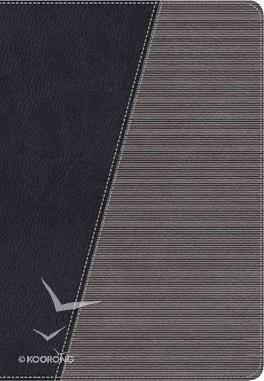 NKJV Modern Life Study Bible, the Leathersoft Black/Stormcloud Gray Premium Imitation Leather