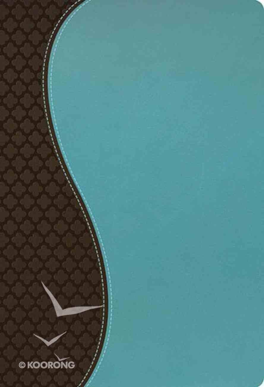 NKJV Woman's Study Bible, Leathersoft Espresso/Turquoise Premium Imitation Leather