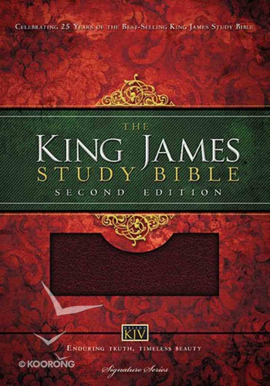 KJV Study Bible Burgundy (Second Edition) Imitation Leather