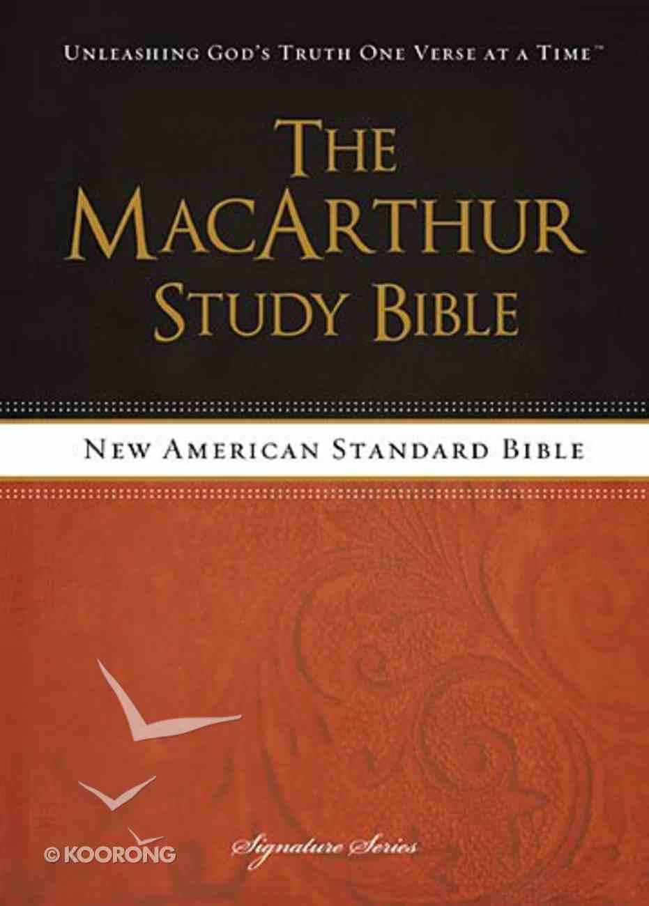 NASB Macarthur Study Bible Signature Series Hardback
